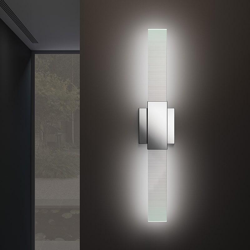 sonneman Radiant Lines LED Double Sconce hallway