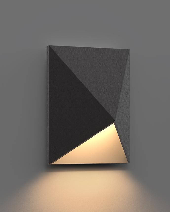 sonneman Triform Compact LED Sconce outdoor