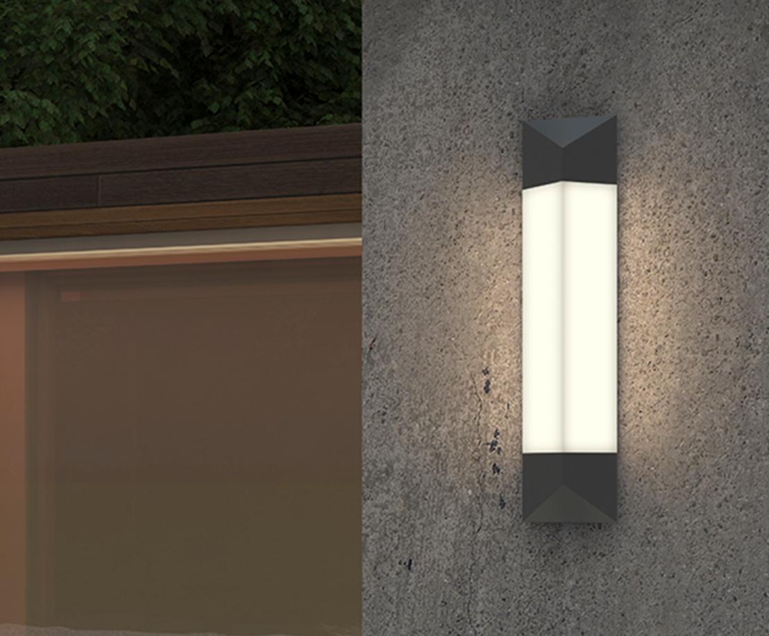 sonneman Triform LED Sconce outdoor