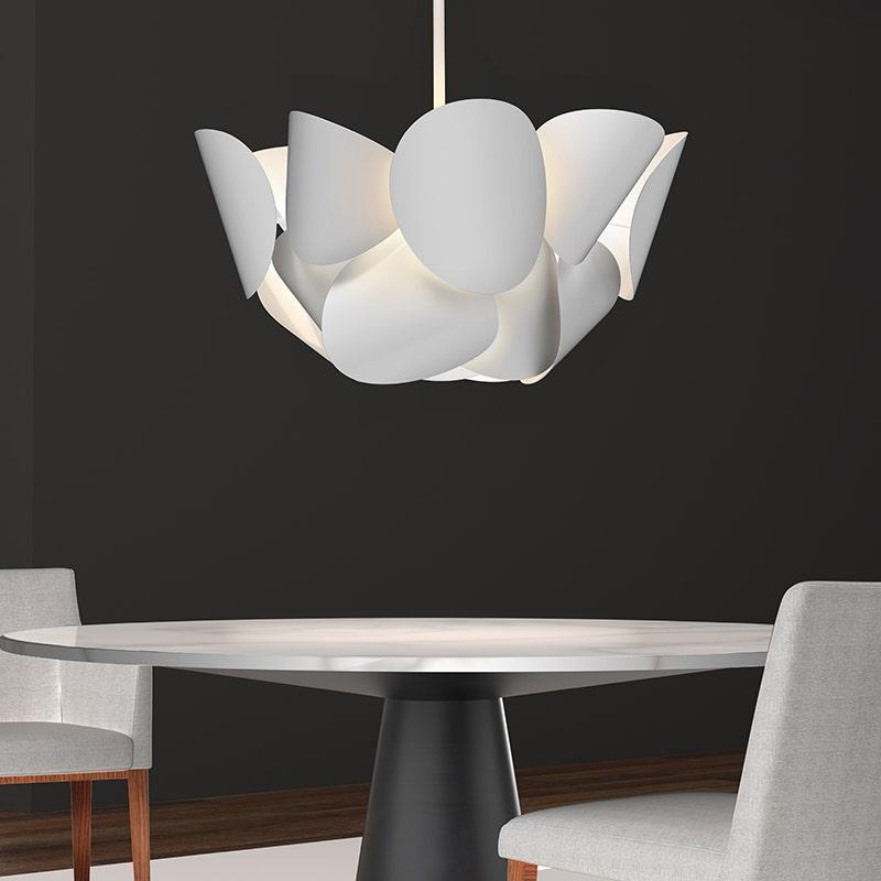 sonneman Lotus Pendant dining